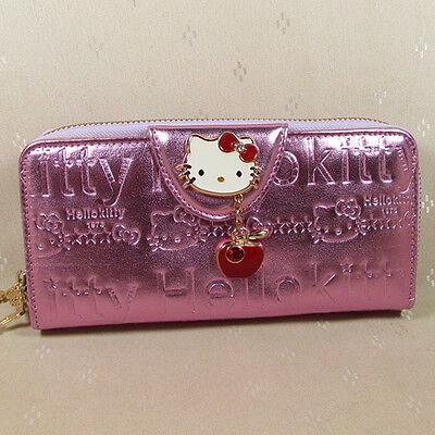 HelloKitty Zipper Pendant Wallet Purse 2017  New Cute Pu Light Purple  Long Size