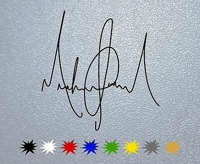 STICKER PEGATINA DECAL Michael Jackson Signature