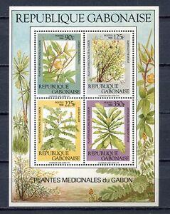 36993) Gabon 1988 MNH Medicinal Plants S/S