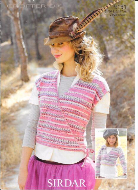 Sirdar Crofter Dk Knitting Pattern For Ballet Cardigans 9131 For