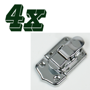 4x Drawbolt Closure Latch for Guitar Case //musical cases 45mm 6431 Chrome