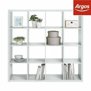 new styles 78da8 fe241 Details about Argos Home Squares Plus 16 Cube Storage Unit - White Gloss.