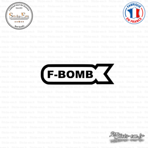 Sticker JDM F-Bomb Decal Aufkleber Pegatinas D-198 Couleurs au choix
