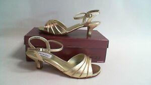 1d1816a6980 NEW  Dyeables Wedding Shoe- Gold Metallic - Brielle- US 9 EE UK 7 ...