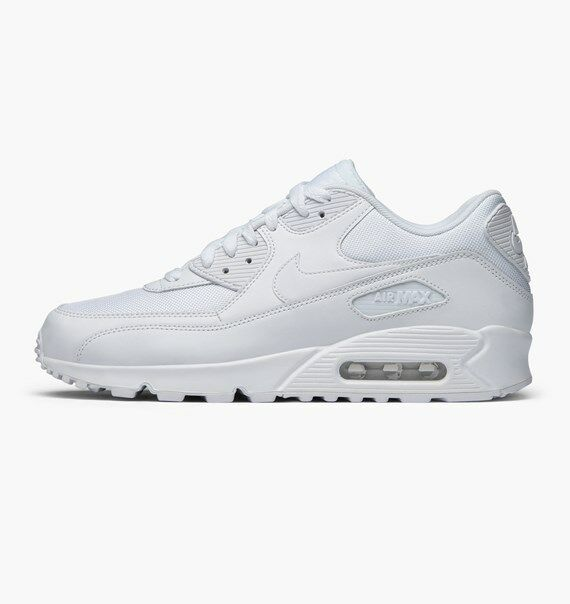 Nike Air Max 90 Essential All Triple White 537384 111 Size 8-14 Whiteout