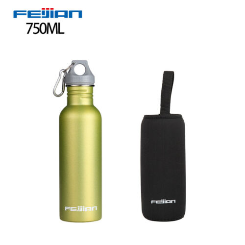 1L Large Stainless Steel Wide Mouth Water Drink Bottle kettle Cycling Sports New