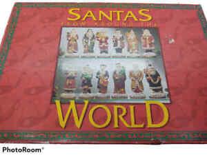 Santas From Around The World Christmas Decoration 12 Hand Painted SantasVintage