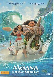 Promotional-Movie-Sheet-Disney-039-s-MOANA-2016-Dwayne-Johnson