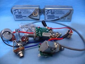 epiphone proalnico classic pups with pro wiring harness pots switch rh ebay com Les Paul Wiring Harness Delco Radio Wiring Harness