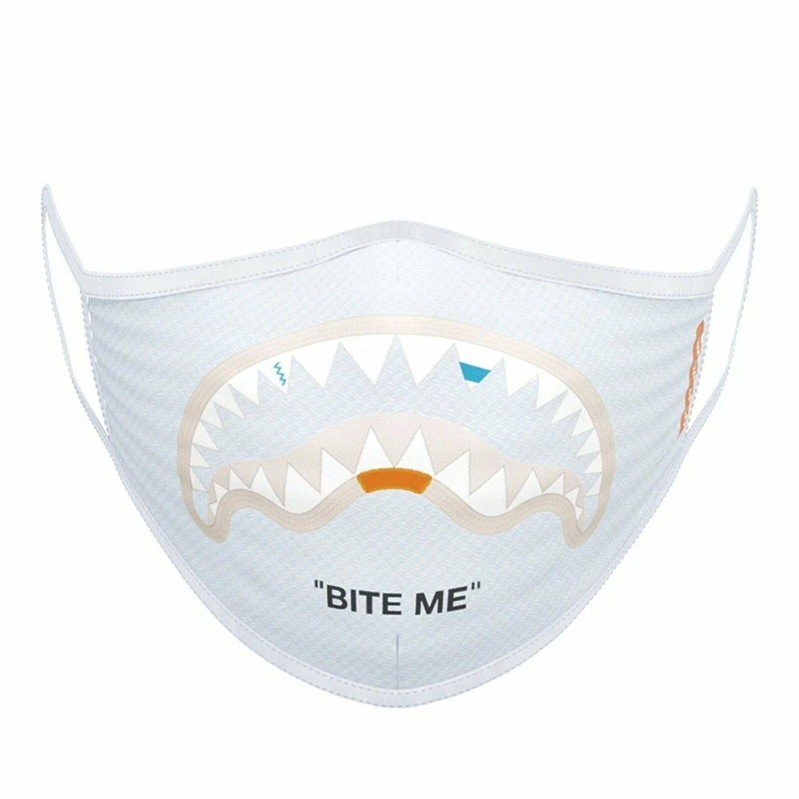 Sprayground   Z146NSZ 'Bite Me' Shark Form-Fitting Face Mask - Sky