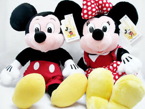 """Disney MICKEY & MINNIE MOUSE 16"""" Plush Doll Collectible From Walt Disney World"""
