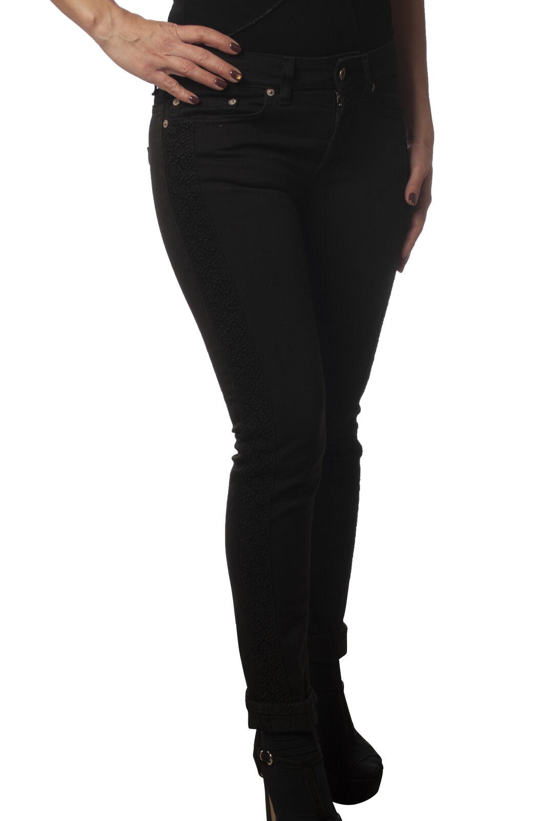 Dondup - Jeans-Pantaloni slim fit - Donna - Nero - 5942010D191304