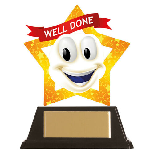 WELL DONE Trophy Home Learning Kids Schooling Award reward your kids efforts