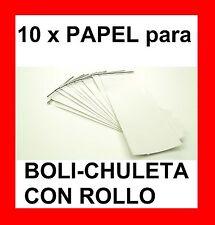 10 x PAPEL PARA BOLI-CHULETA CON ROLLO - BOLI PARA LOS EXÁMENES - VER VIDEOS !