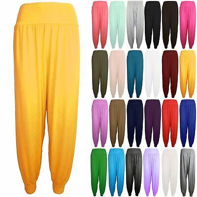 Bambine Harem Baggy Donne Plain Lunghezza Intera Ali Baba Leggings Pantaloni Pants-mostra Il Titolo Originale Una Custodia Di Plastica è Compartimentata Per Lo Stoccaggio Sicuro