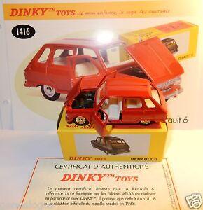DINKY-TOYS-ATLAS-RENAULT-6-R6-1968-ROJO-1-43-REF-1416-EN-BOX