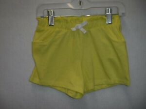 GIRLS-SIZE-6X-JUMPING-BEANS-YELLOW-GATHERED-WAIST-PULL-ON-SHORTS-NEW-15052