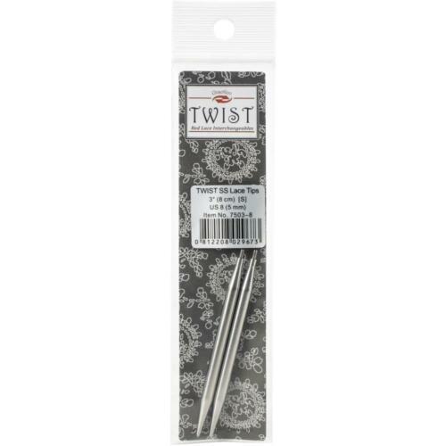 "ChiaoGoo 3/"" Twist Red Lace Interchangeable Needle Tips 7503"