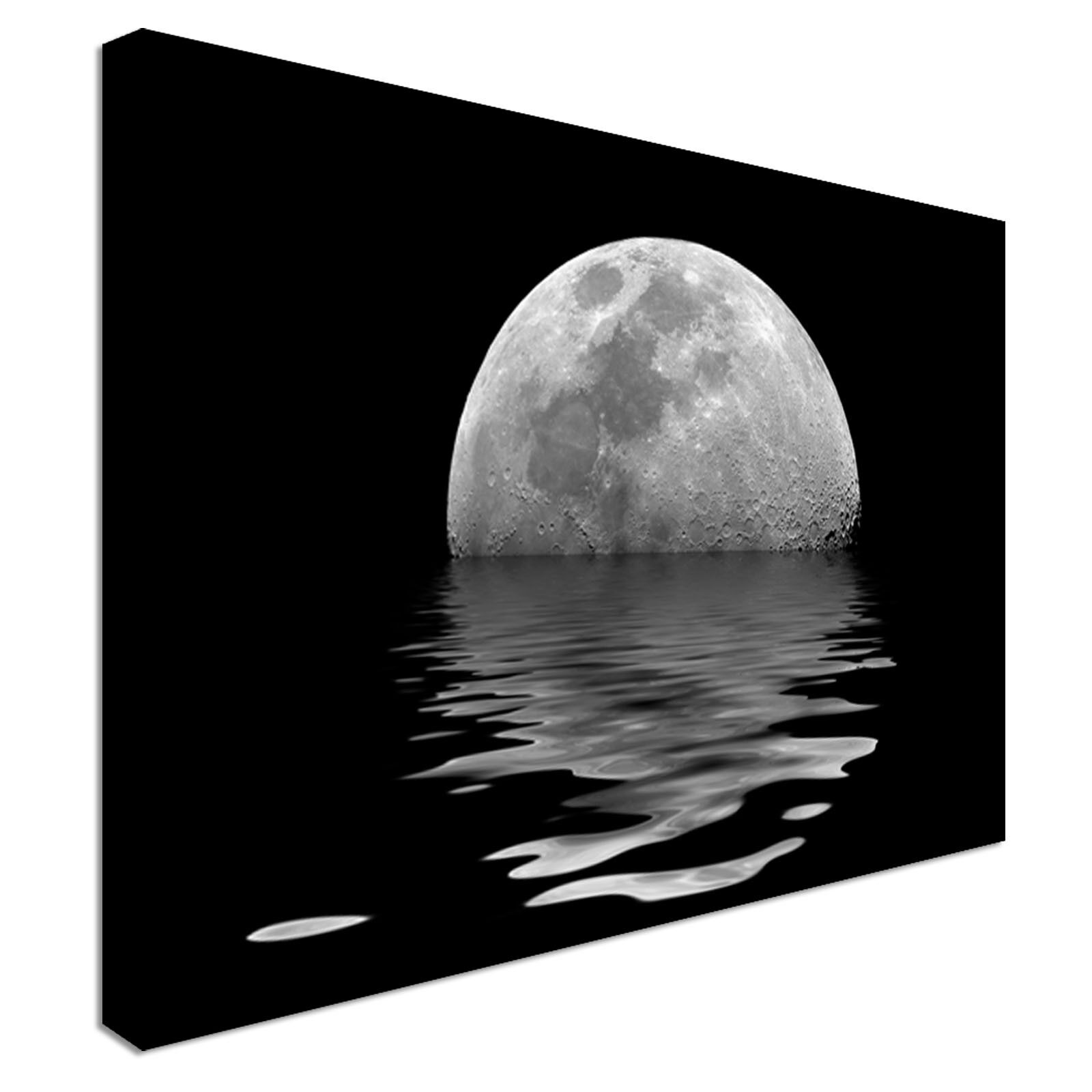 Moon And Sea Reflection Canvas Art High Quality Great Value