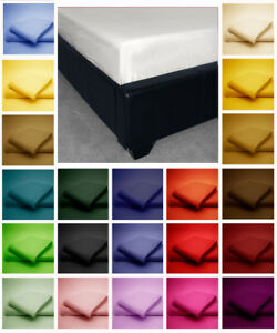 Poly-Cotton-Fitted-Bed-Sheets-Plain-Dyed-Colours