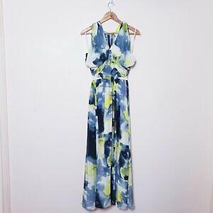 Rachel Gilbert Size 1 AU 8 Small 100% Silk Sweetheart Long Maxi Dress