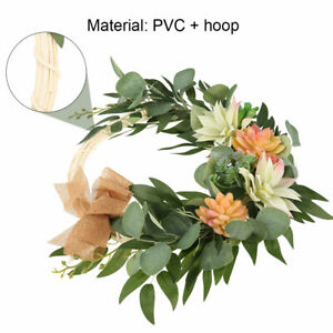 Artificial-Flower-Hanging-Wreath-Garland-Door-Wall-Home-Christmas-Wedding-Party
