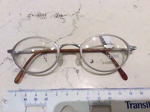 Zeiss-1305-5100-45-22-occhiale-vista-vintage-nuovo-metallo-argento-opaco
