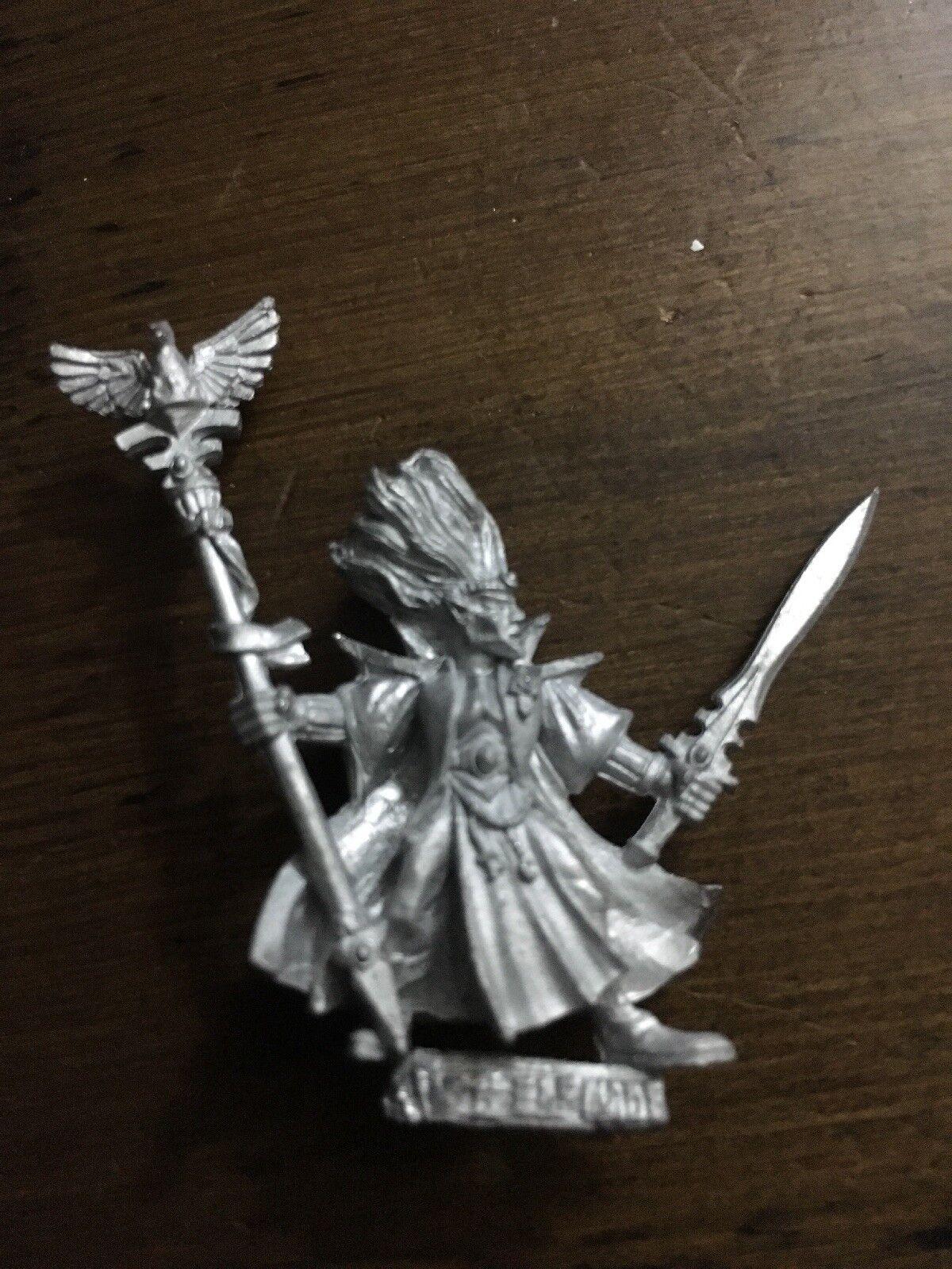 Unreleased High Elf Mage   Wizard Metal Games Workshop