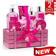 BIRTHDAY GIFT FOR HER 8 Piece Set Basket Spa Bath Luxury Flower Dandelion