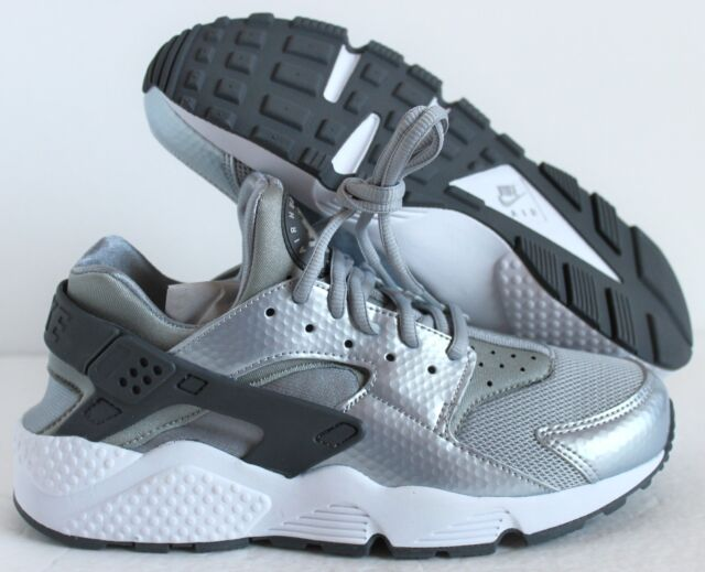 ec4667820adc Women s Nike Air Huarache Run Silver Wolf Dark Grey White 634835-014 ...