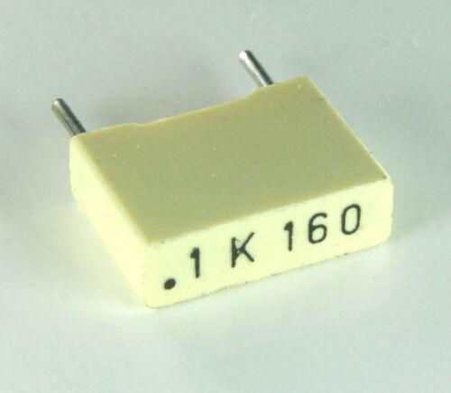 250pcs  .1uf 160V Metallized Box Film Capacitor 10/%