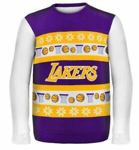 Los-Angeles-Lakers-Pullover-Sweater-Ugly-NBA-Basketball-Winter-Style-Gr-XXL