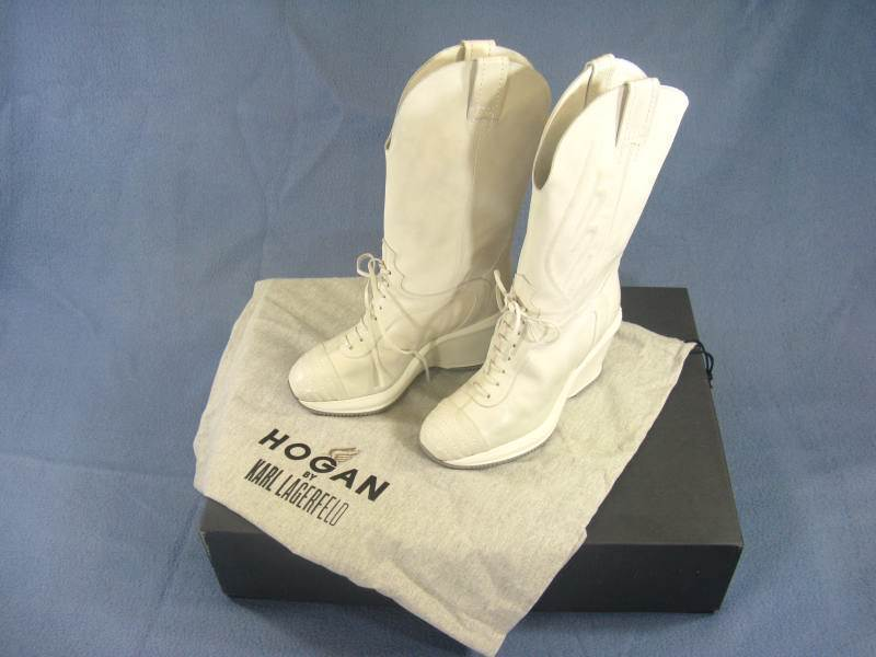 STIVALI HOGAN By KARL LAGERFELD BOOTS GXW1390A870B0TB001 NR.37  -70% SHOES