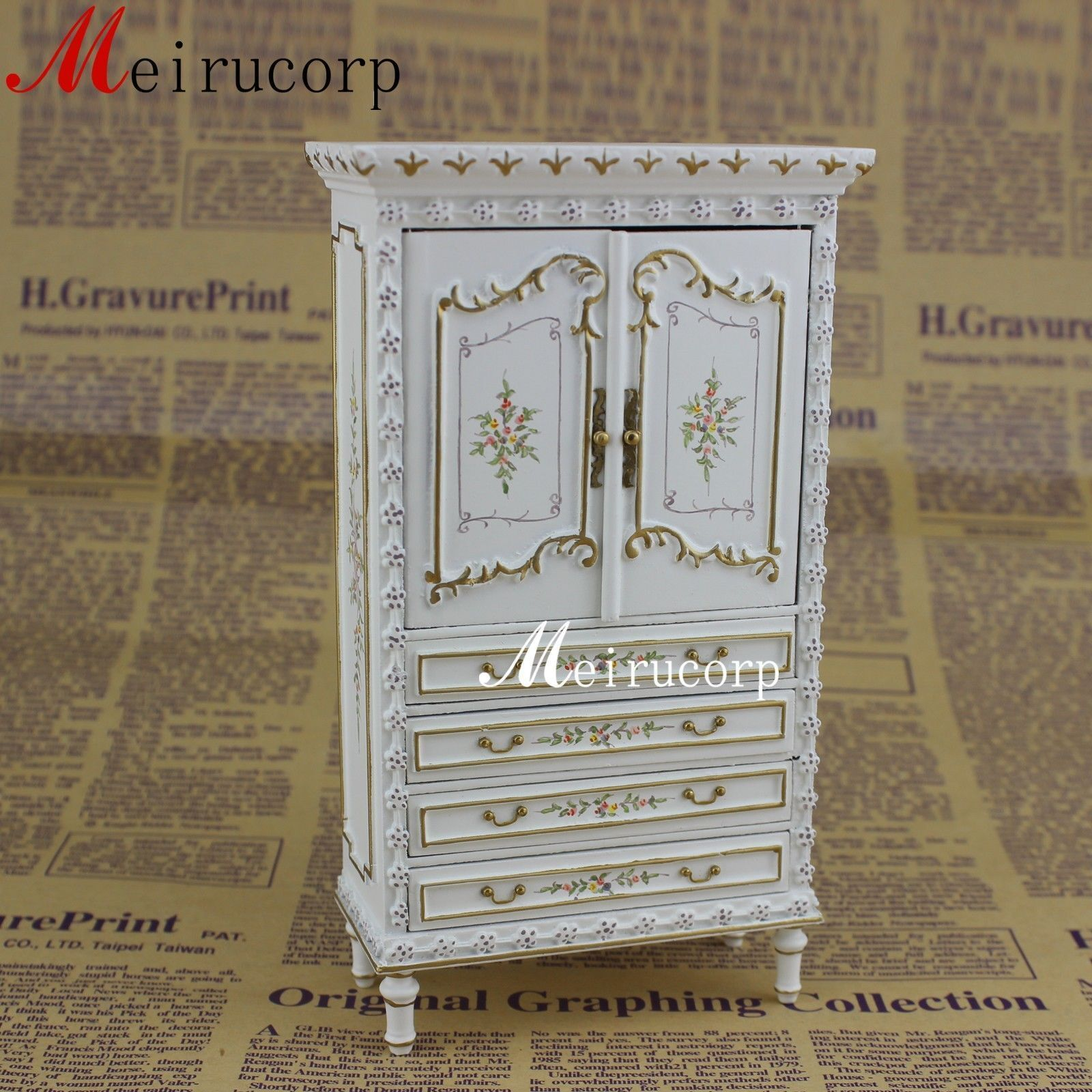 Fine 1 12 12 12 scale bambolahouse miniature furniture bianca collection cabinet f31adf