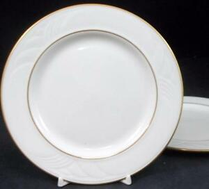 Lenox-China-GOLDEN-SAND-DUNE-2-Bread-amp-Butter-Plates-A-CONDITION-mfg-2nd
