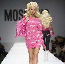 MOSCHINO BARBIE ROSA TG M PULLOVER DRESS NEW TAG VESTITO ABITO PINK ROSA LUXE