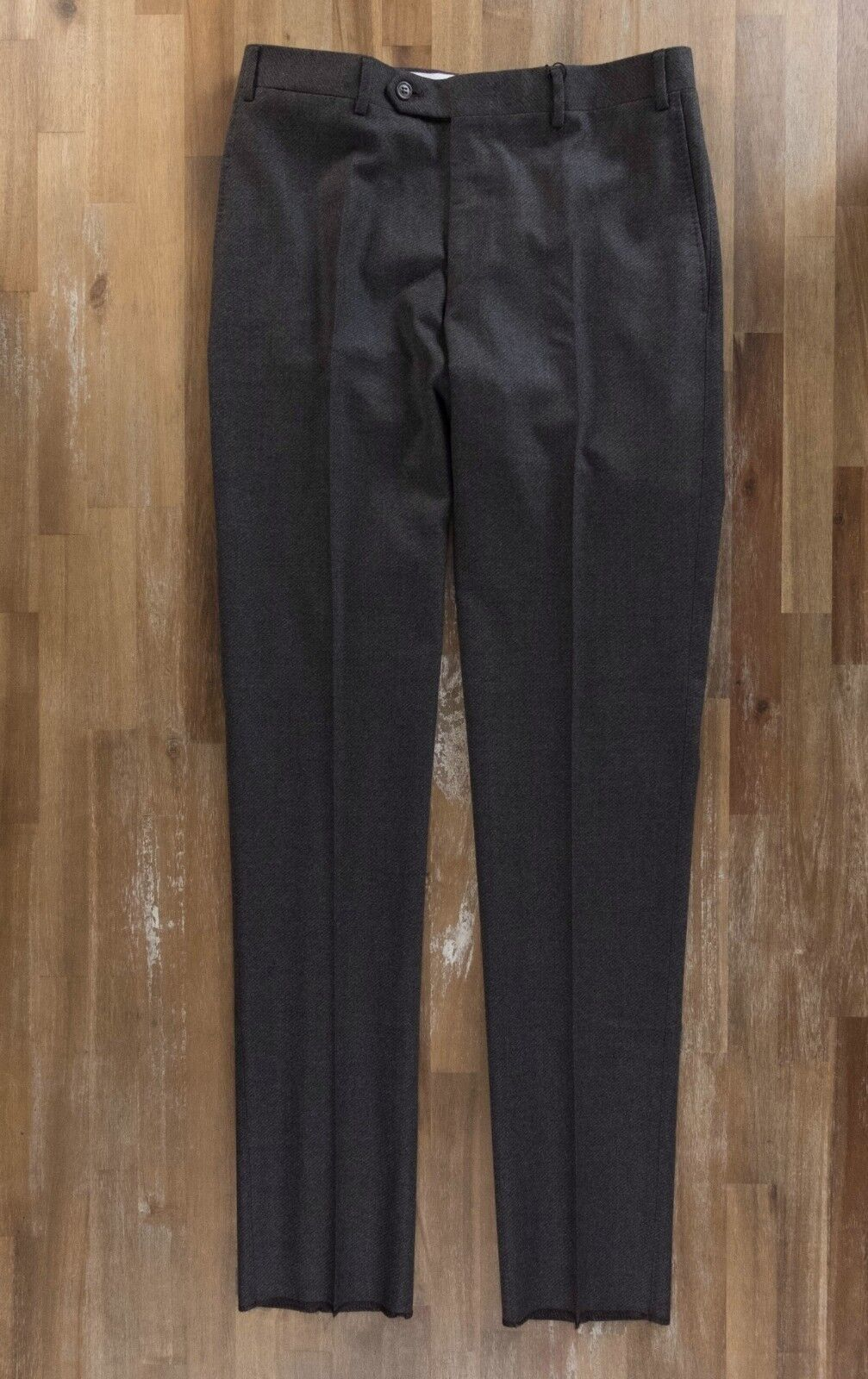 CANALI brown wool stretch pants trousers authentic - Size 32 US   48 NWOT