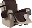 reversible recliner arm chair cover lazy boy protector wide elastic straps new