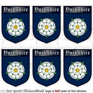 YORKSHIRE-Shield-England-UK-British-Mobile-Cell-Phone-Mini-Decals-Stickers-x6