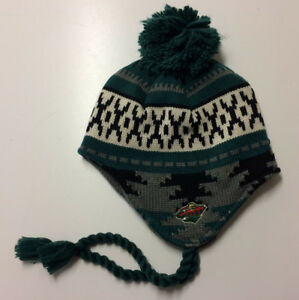 d3c8f57eb31 2018 Minnesota Wild Adidas NHL Knit Hat Beanie Stocking Cap Pom ...