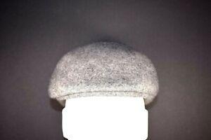 "b2a50b08 Newsboy Ascot Ivy Flat Cap 7 1/8 Gray 100% Wool 22 3/8"" 56.8 cm ..."
