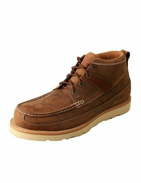 273438aa634 Twisted X Boots Men's MCAS001 Steel Toe Boot Oiled Saddle Leather Moc Toe  Shoes