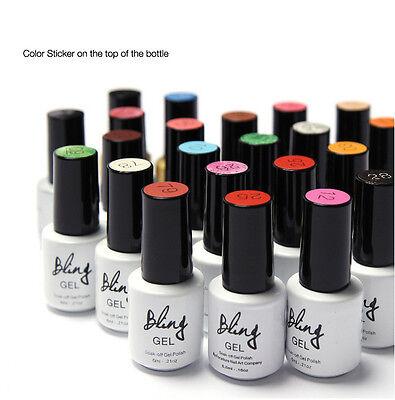 HOT BLING 80 Colors UV LED Soak-off Gel Polish Nail Art Gelpolish Varnish #61-80