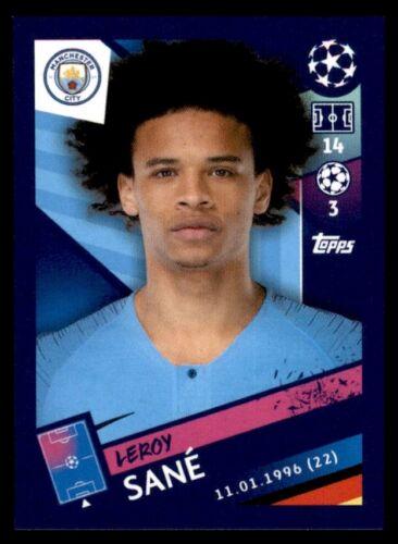 Topps Champions League 2018//19 Leroy Sané Manchester City FC no 170