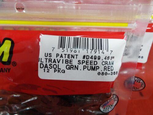 080-161 Black Grape ZOOM Ultra Vibe Speed Craw 12cnt 2 PCKS