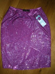 KAREN MILLEN HEAVILY BEADED SKIRT PINK SATIN LINING SIZE 14 BRAND NEW - Shropshire, United Kingdom - KAREN MILLEN HEAVILY BEADED SKIRT PINK SATIN LINING SIZE 14 BRAND NEW - Shropshire, United Kingdom
