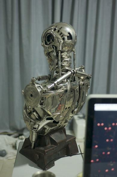 Terminator Judgment Day T2 T800 1 2 Bust Figure Figure Figure Statue Resin Hot Toy Collectible 6303a6