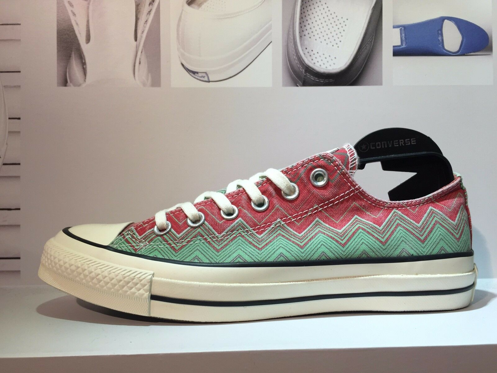 New CONVERSE X MISSONI Chuck Taylor All Star Pink Green Men Shoes 147273C US11
