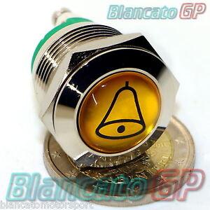 PULSANTE-19mm-PER-CAMPANELLO-CON-SIMBOLO-CAMPANA-IP65-OTTONE-CROMATO-doorbell