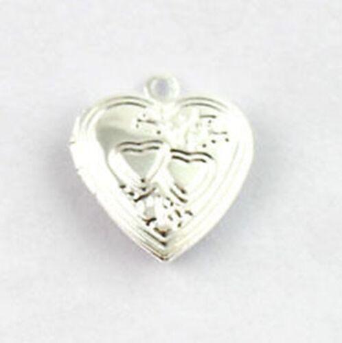10PCS doble corazón SP Colgante 20mm #20409